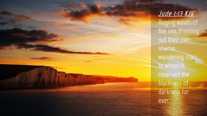 Picture 04 - Jude 1:13 KJV Desktop Wallpaper - Raging waves of the sea, foaming out their own - Desktop Bible Verse Wallpaper