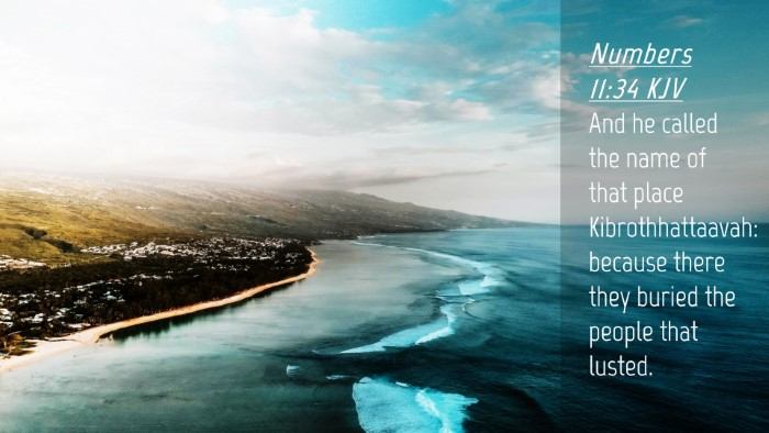 Picture 04 - Numbers 11:34 KJV Desktop Wallpaper - And he called the name of that place - Desktop Bible Verse Wallpaper