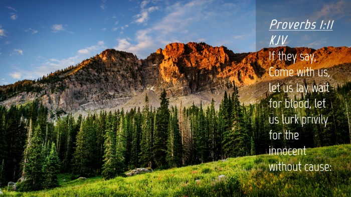Picture 04 - Proverbs 1:11 KJV Desktop Wallpaper - If they say, Come with us, let us lay wait for - Desktop Bible Verse Wallpaper