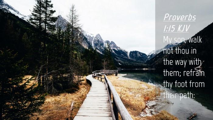 Picture 04 - Proverbs 1:15 KJV Desktop Wallpaper - My son, walk not thou in the way with them; - Desktop Bible Verse Wallpaper