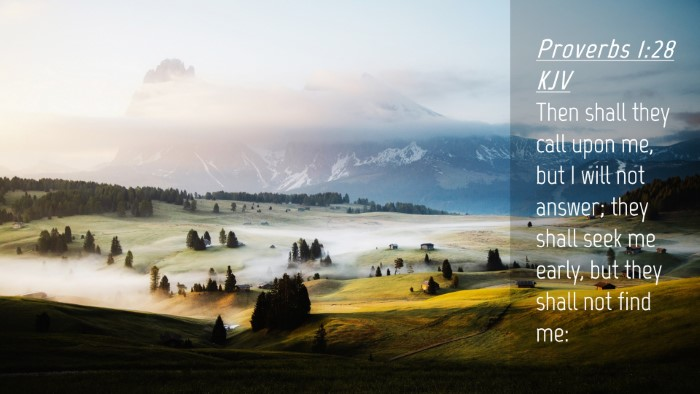 Picture 04 - Proverbs 1:28 KJV Desktop Wallpaper - Then shall they call upon me, but I will not - Desktop Bible Verse Wallpaper