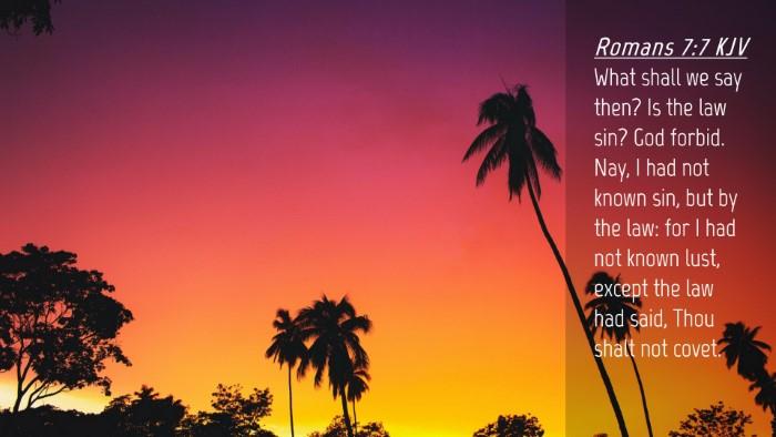 Picture 04 - Romans 7:7 KJV Desktop Wallpaper - What shall we say then? Is the law sin? God - Desktop Bible Verse Wallpaper