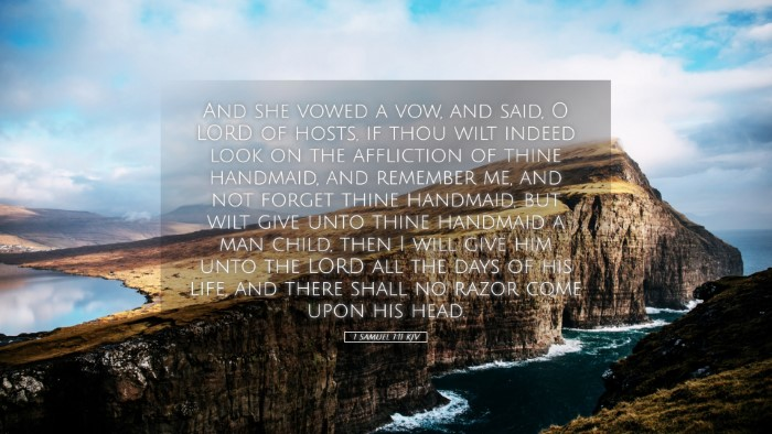 Picture 05 - 1 Samuel 1:11 KJV Desktop Wallpaper - And she vowed a vow, and said, O LORD of hosts, - Desktop Bible Verse Wallpaper