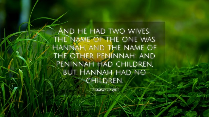 Picture 05 - 1 Samuel 1:2 KJV Desktop Wallpaper - And he had two wives; the name of the one was - Desktop Bible Verse Wallpaper