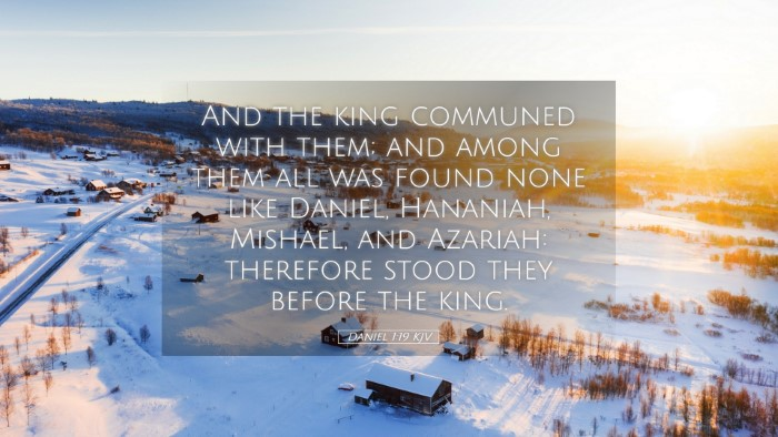 Picture 05 - Daniel 1:19 KJV Desktop Wallpaper - And the king communed with them; and among them - Desktop Bible Verse Wallpaper