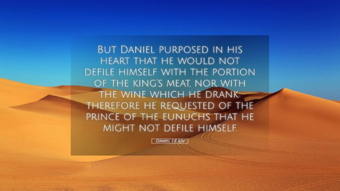 Picture 05 - Daniel 1:8 KJV Desktop Wallpaper - But Daniel purposed in his heart that he would - Desktop Bible Verse Wallpaper