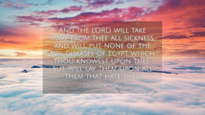 Picture 05 - Deuteronomy 7:15 KJV Desktop Wallpaper - And the LORD will take away from thee all - Desktop Bible Verse Wallpaper