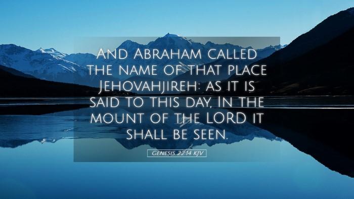 Picture 05 - Genesis 22:14 KJV Desktop Wallpaper - And Abraham called the name of that place - Desktop Bible Verse Wallpaper