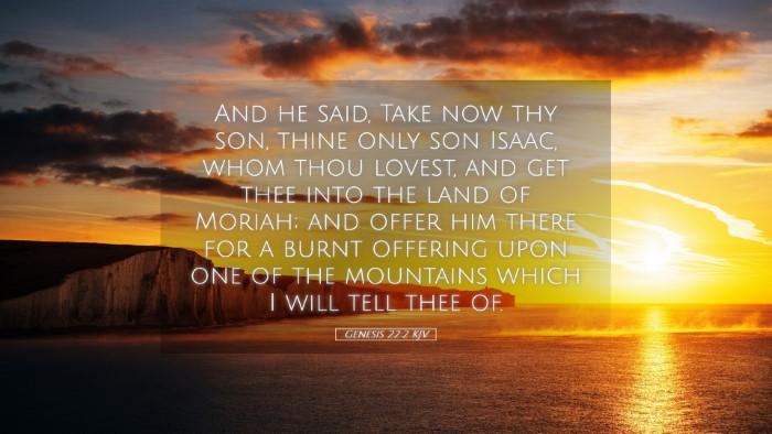 Picture 05 - Genesis 22:2 KJV Desktop Wallpaper - And he said, Take now thy son, thine only son - Desktop Bible Verse Wallpaper
