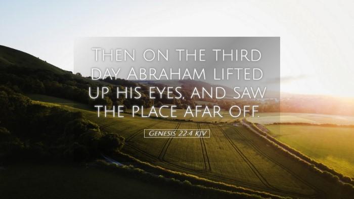 Picture 05 - Genesis 22:4 KJV Desktop Wallpaper - Then on the third day Abraham lifted up his eyes, - Desktop Bible Verse Wallpaper