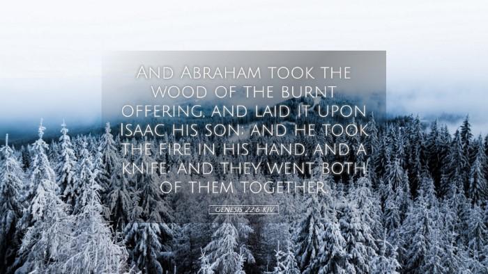 Picture 05 - Genesis 22:6 KJV Desktop Wallpaper - And Abraham took the wood of the burnt offering, - Desktop Bible Verse Wallpaper