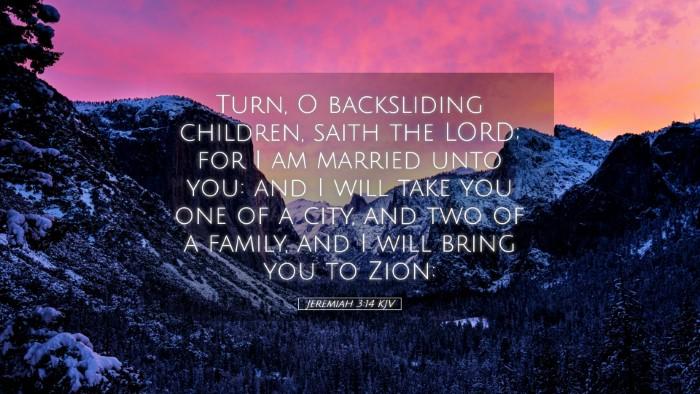 Picture 05 - Jeremiah 3:14 KJV Desktop Wallpaper - Turn, O backsliding children, saith the LORD; for - Desktop Bible Verse Wallpaper