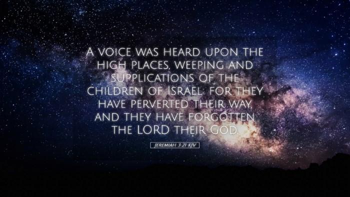Picture 05 - Jeremiah 3:21 KJV Desktop Wallpaper - A voice was heard upon the high places, weeping - Desktop Bible Verse Wallpaper