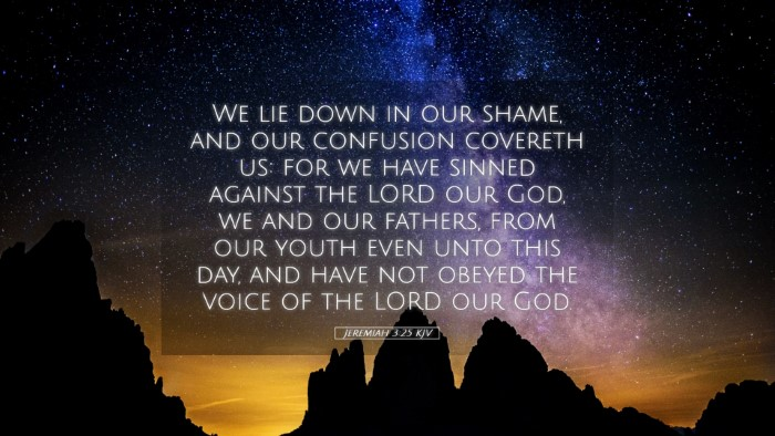Picture 05 - Jeremiah 3:25 KJV Desktop Wallpaper - We lie down in our shame, and our confusion - Desktop Bible Verse Wallpaper