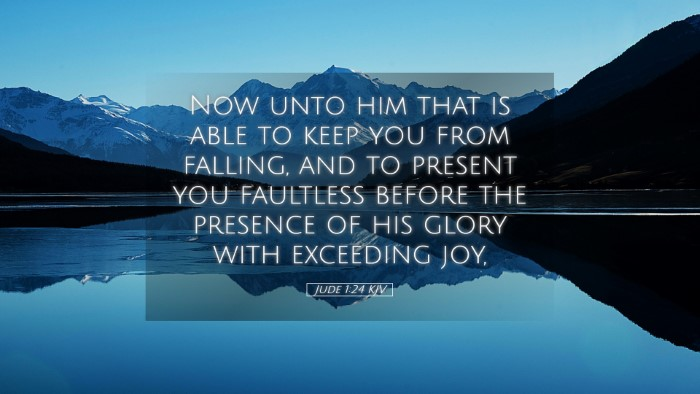 Picture 05 - Jude 1:24 KJV Desktop Wallpaper - Now unto him that is able to keep you from - Desktop Bible Verse Wallpaper
