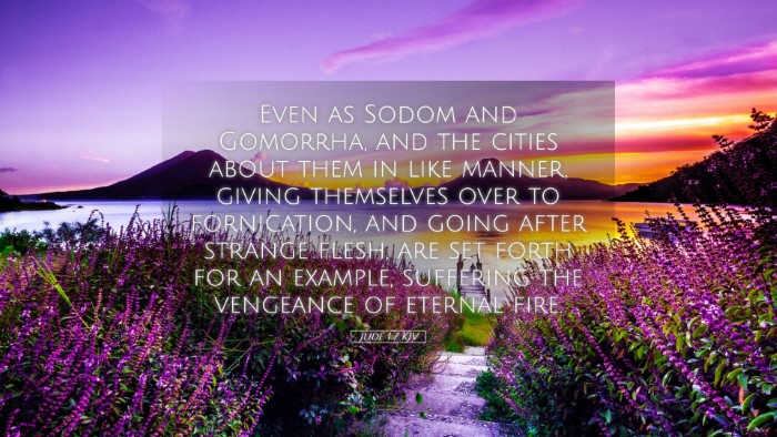 Picture 05 - Jude 1:7 KJV Desktop Wallpaper - Even as Sodom and Gomorrha, and the cities about - Desktop Bible Verse Wallpaper