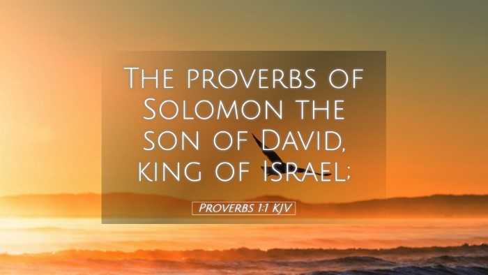 Picture 05 - Proverbs 1:1 KJV Desktop Wallpaper - The proverbs of Solomon the son of David, king of - Desktop Bible Verse Wallpaper