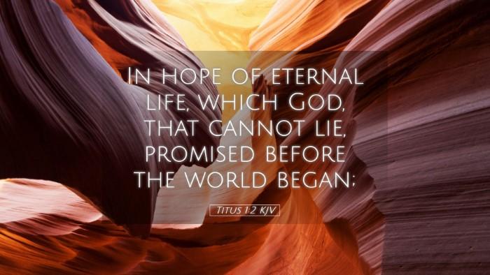 Picture 05 - Titus 1:2 KJV Desktop Wallpaper - In hope of eternal life, which God, that cannot - Desktop Bible Verse Wallpaper