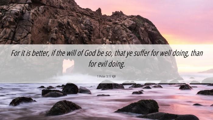 Picture 06 - 1 Peter 3:17 KJV Desktop Wallpaper - For it is better, if the will of God be so, that - Desktop Bible Verse Wallpaper
