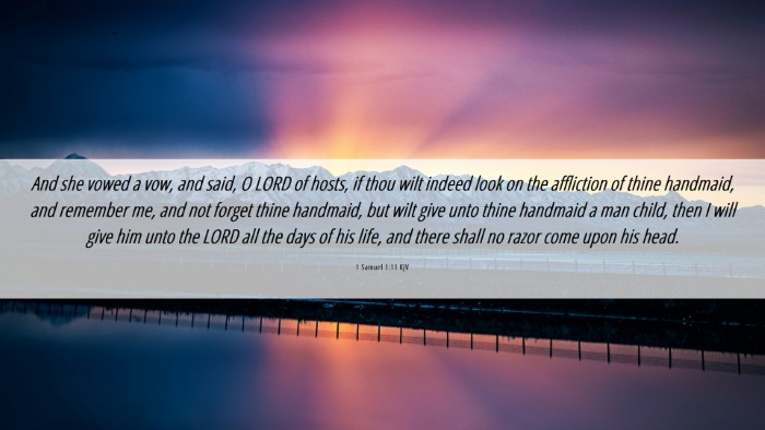 Picture 06 - 1 Samuel 1:11 KJV Desktop Wallpaper - And she vowed a vow, and said, O LORD of hosts, - Desktop Bible Verse Wallpaper