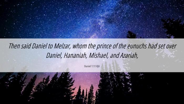 Picture 06 - Daniel 1:11 KJV Desktop Wallpaper - Then said Daniel to Melzar, whom the prince of - Desktop Bible Verse Wallpaper