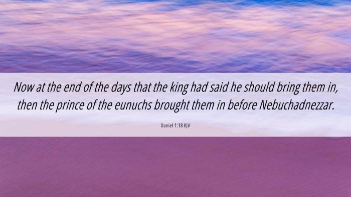 Picture 06 - Daniel 1:18 KJV Desktop Wallpaper - Now at the end of the days that the king had said - Desktop Bible Verse Wallpaper