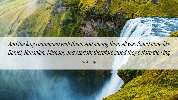 Picture 06 - Daniel 1:19 KJV Desktop Wallpaper - And the king communed with them; and among them - Desktop Bible Verse Wallpaper
