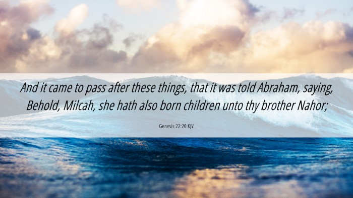 Picture 06 - Genesis 22:20 KJV Desktop Wallpaper - And it came to pass after these things, that it - Desktop Bible Verse Wallpaper