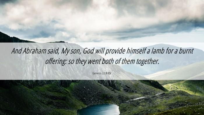 Picture 06 - Genesis 22:8 KJV Desktop Wallpaper - And Abraham said, My son, God will provide - Desktop Bible Verse Wallpaper