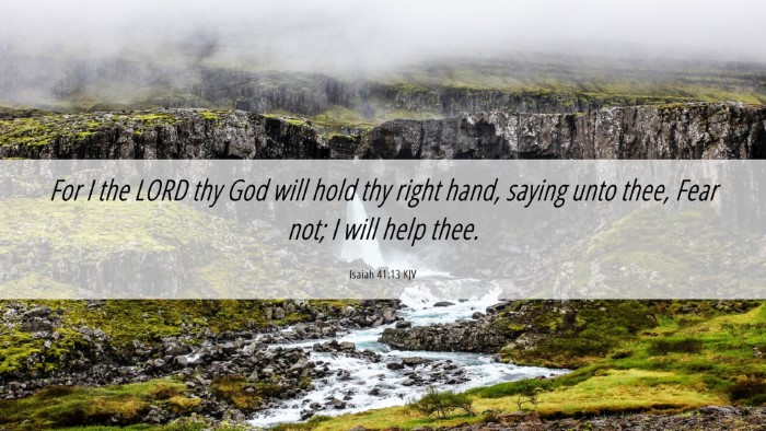 Picture 06 - Isaiah 41:13 KJV Desktop Wallpaper - For I the LORD thy God will hold thy right hand, - Desktop Bible Verse Wallpaper