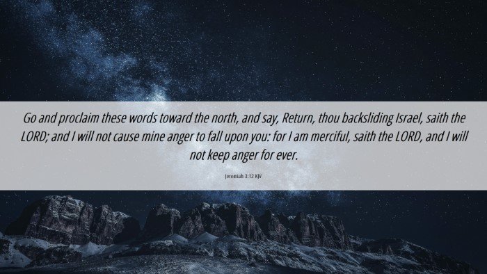 Picture 06 - Jeremiah 3:12 KJV Desktop Wallpaper - Go and proclaim these words toward the north, and - Desktop Bible Verse Wallpaper