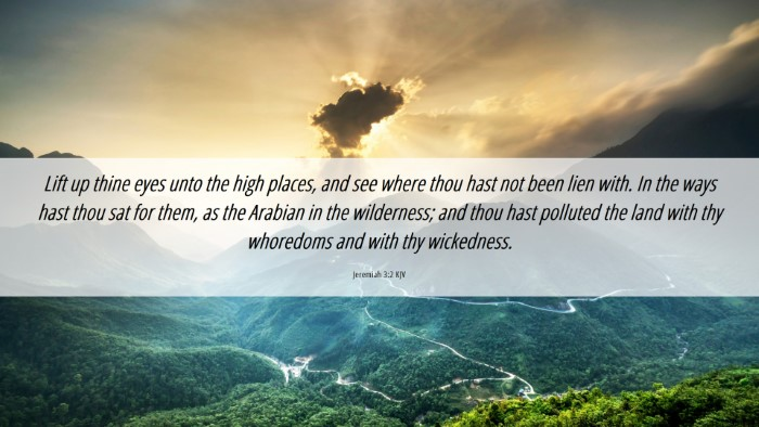 Picture 06 - Jeremiah 3:2 KJV Desktop Wallpaper - Lift up thine eyes unto the high places, and see - Desktop Bible Verse Wallpaper