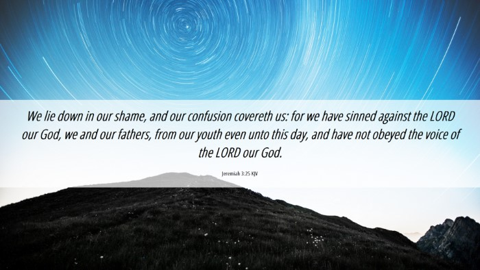 Picture 06 - Jeremiah 3:25 KJV Desktop Wallpaper - We lie down in our shame, and our confusion - Desktop Bible Verse Wallpaper