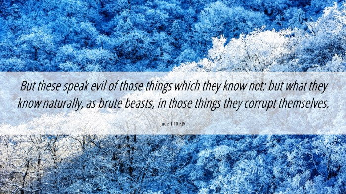 Picture 06 - Jude 1:10 KJV Desktop Wallpaper - But these speak evil of those things which they - Desktop Bible Verse Wallpaper