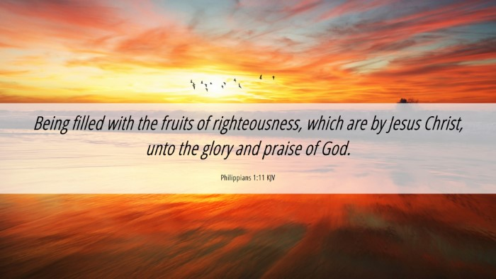 Picture 06 - Philippians 1:11 KJV Desktop Wallpaper - Being filled with the fruits of righteousness, - Desktop Bible Verse Wallpaper
