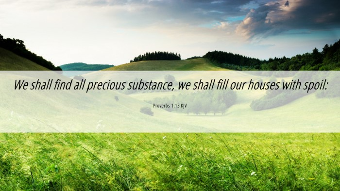 Picture 06 - Proverbs 1:13 KJV Desktop Wallpaper - We shall find all precious substance, we shall - Desktop Bible Verse Wallpaper
