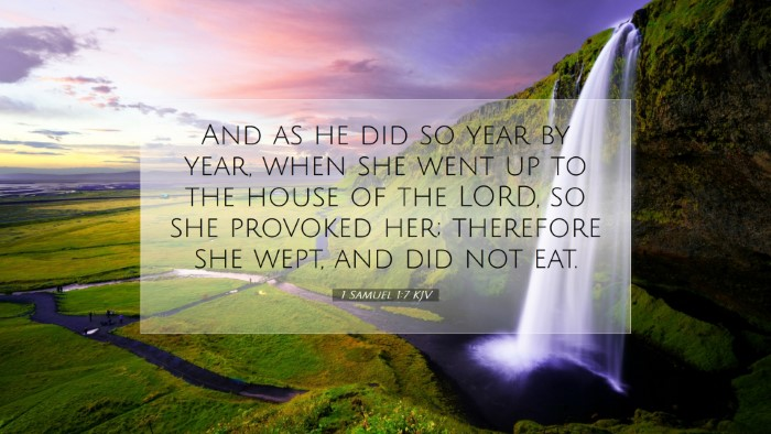 Picture 07 - 1 Samuel 1:7 KJV Desktop Wallpaper - And as he did so year by year, when she went up - Desktop Bible Verse Wallpaper