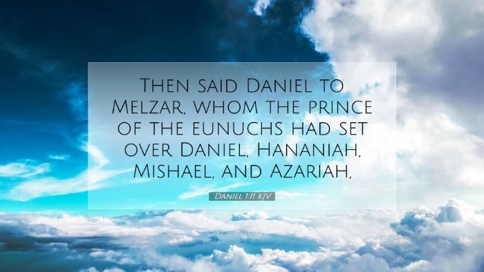 Picture 07 - Daniel 1:11 KJV Desktop Wallpaper - Then said Daniel to Melzar, whom the prince of - Desktop Bible Verse Wallpaper