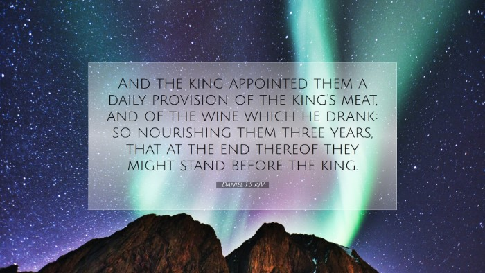 Picture 07 - Daniel 1:5 KJV Desktop Wallpaper - And the king appointed them a daily provision of - Desktop Bible Verse Wallpaper