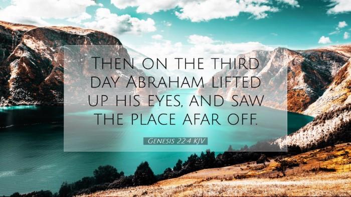 Picture 07 - Genesis 22:4 KJV Desktop Wallpaper - Then on the third day Abraham lifted up his eyes, - Desktop Bible Verse Wallpaper