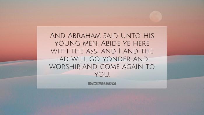 Picture 07 - Genesis 22:5 KJV Desktop Wallpaper - And Abraham said unto his young men, Abide ye - Desktop Bible Verse Wallpaper