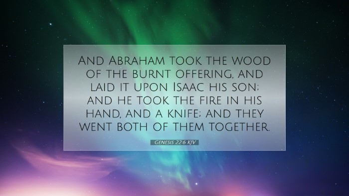 Picture 07 - Genesis 22:6 KJV Desktop Wallpaper - And Abraham took the wood of the burnt offering, - Desktop Bible Verse Wallpaper
