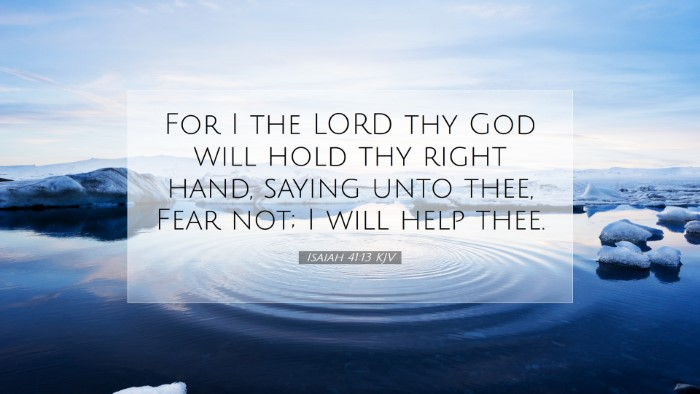 Picture 07 - Isaiah 41:13 KJV Desktop Wallpaper - For I the LORD thy God will hold thy right hand, - Desktop Bible Verse Wallpaper