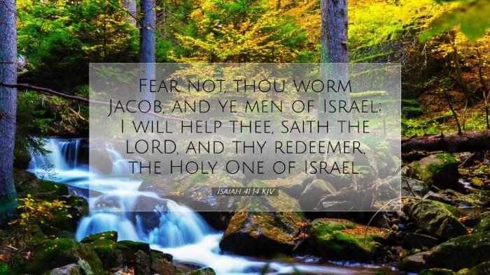 Picture 07 - Isaiah 41:14 KJV Desktop Wallpaper - Fear not, thou worm Jacob, and ye men of Israel; - Desktop Bible Verse Wallpaper