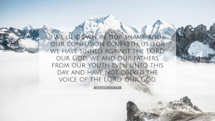 Picture 07 - Jeremiah 3:25 KJV Desktop Wallpaper - We lie down in our shame, and our confusion - Desktop Bible Verse Wallpaper