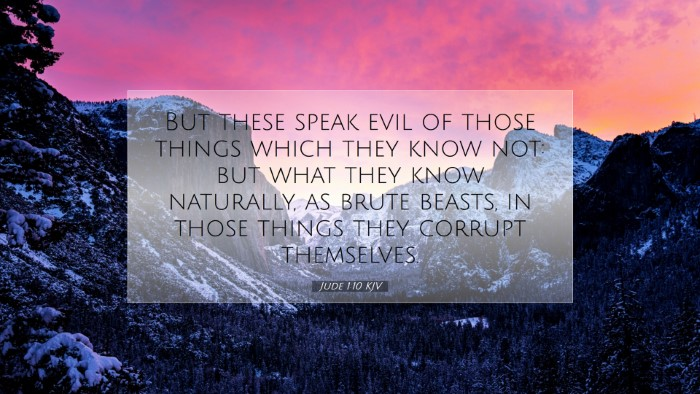 Picture 07 - Jude 1:10 KJV Desktop Wallpaper - But these speak evil of those things which they - Desktop Bible Verse Wallpaper