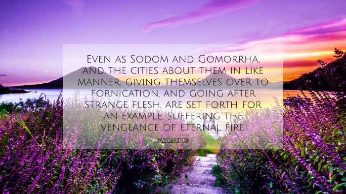 Picture 07 - Jude 1:7 KJV Desktop Wallpaper - Even as Sodom and Gomorrha, and the cities about - Desktop Bible Verse Wallpaper