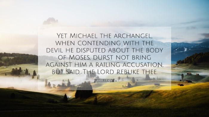 Picture 07 - Jude 1:9 KJV Desktop Wallpaper - Yet Michael the archangel, when contending with - Desktop Bible Verse Wallpaper
