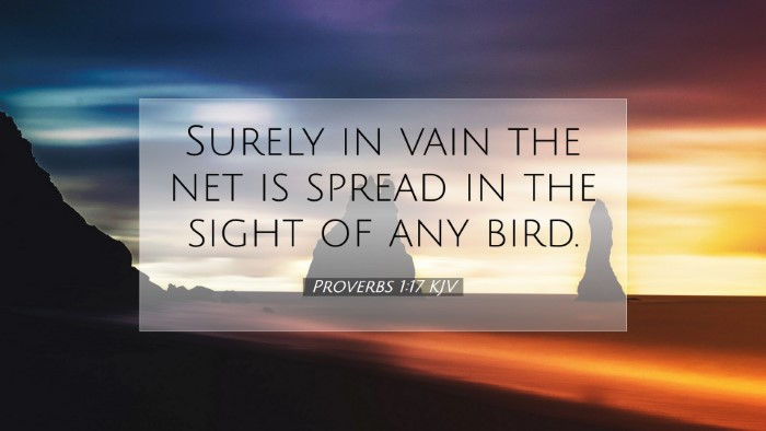 Picture 07 - Proverbs 1:17 KJV Desktop Wallpaper - Surely in vain the net is spread in the sight of - Desktop Bible Verse Wallpaper