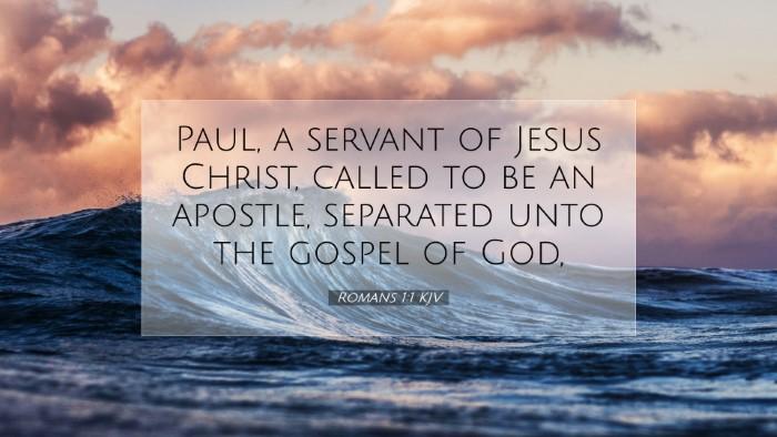 Picture 07 - Romans 1:1 KJV Desktop Wallpaper - Paul, a servant of Jesus Christ, called to be an - Desktop Bible Verse Wallpaper